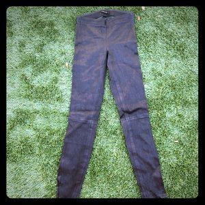JBrand Leather mid-rise leggings blk XS Orig. $948
